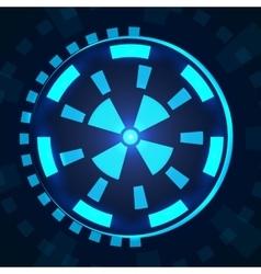 Sci fi futuristic user interface HUD vector image
