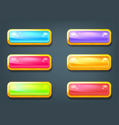 Set of game colorful buttons vector