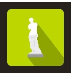 Statue of venus de milo icon flat style vector