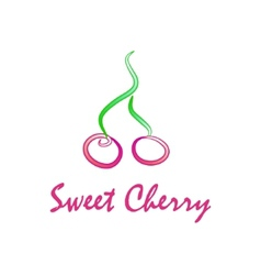 Sweet cherry vector image