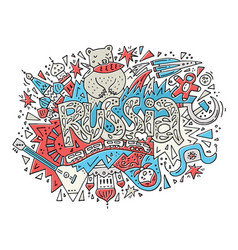 The concept of russia with symbols vector