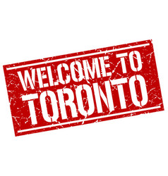 welcome to toronto stamp vector image