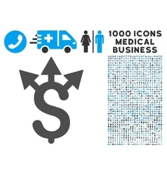 Expences icon with 1000 medical business symbols vector
