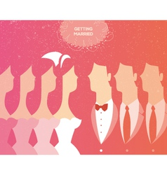 Wedding ceremony invitation vector