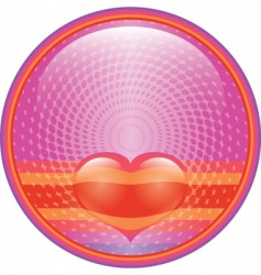 Heart internet button vector