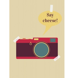 Say cheese vector
