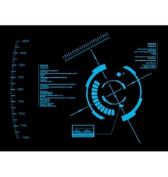 Futuristic user interface hud vector
