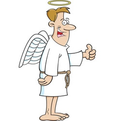 Cartoon male angel vector