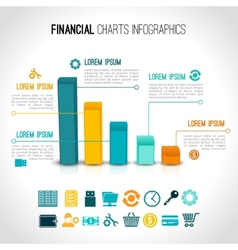 Finance charts infographic vector