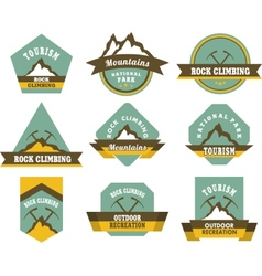 Tourism badges vector