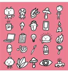Doodle cartoon icon design vector