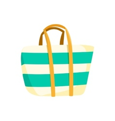 Bag beach accessory vector