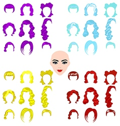 Female punk hair vector
