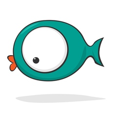 Funny cartoon fish vector