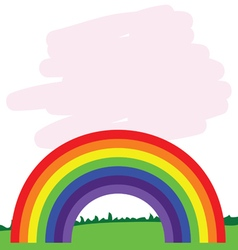 Rainbow line in nature vector