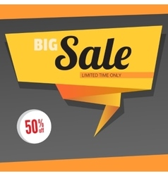 Big sale origami banner vector