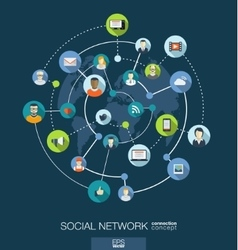 Social network connection concept abstract vector