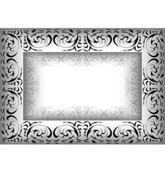 Abstract ornamental frame vector image