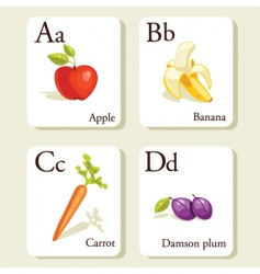 alphabet cards vector image vector image