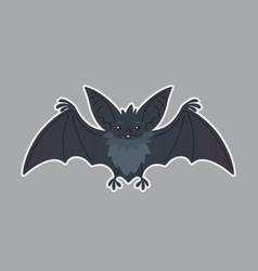 bat animal of bat-eared grey vector image vector image