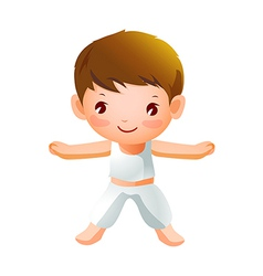 Boy Exercising vector image