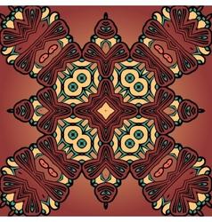 Brown four corner seamless tile vector