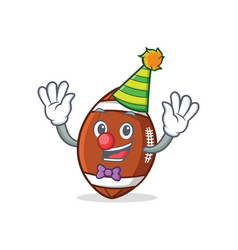Clown american football character cartoon vector