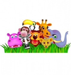 cute animals vector image vector image