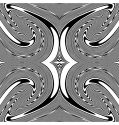 Design monochrome spiral movement background vector