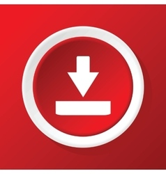 Download icon on red vector image vector image