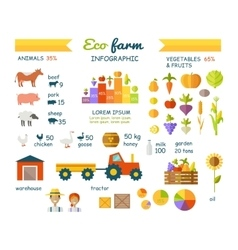 Eco farm infographic elements flat design vector