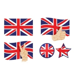 England britain uk flag vector image vector image