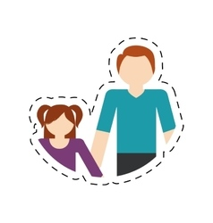 family father and daughter fun relation vector image vector image