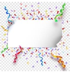 Festive background on transparent vector image