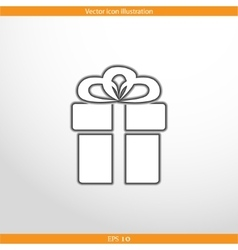 gift box web flat icon vector image vector image