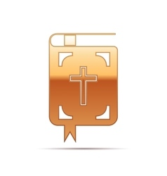 Gold Bible icon on white background vector image