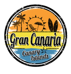 Gran canaria sign or stamp vector