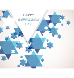 Independence day of Israel David star background vector image vector image