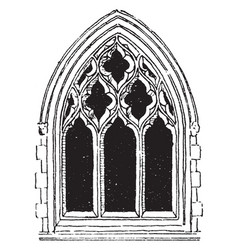 Large gothic window tracery technical aspects of vector