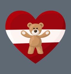 Latvian Teddy Bears vector image