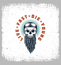 live fast die young vector image