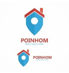 logo place point with house vector image