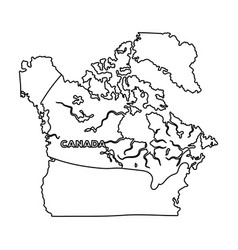 map of canada canada single icon in outline style vector image
