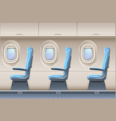 passenger airplane interior aircraft vector image