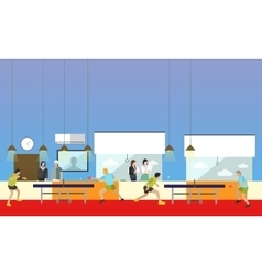 People playing ping-pong sport banners vector image vector image