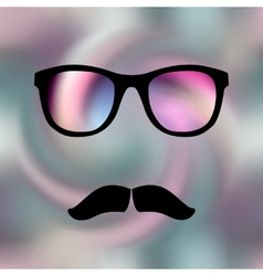 Pink glass vector