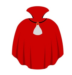 Red cape dracula isolated mantle vampire white vector