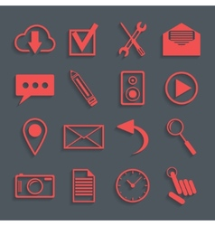 red icons for web and mobile applications vector image vector image