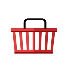 Red shopping basket vector