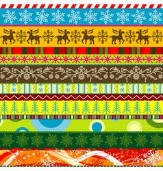 scrapbook christmas patterns for design vector image vector image
